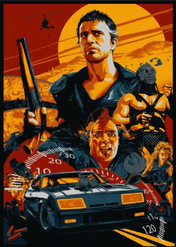 1980's Movie - MAD MAX 2 ALTERNATE ART canvas print - self adhesive poster - photo print
